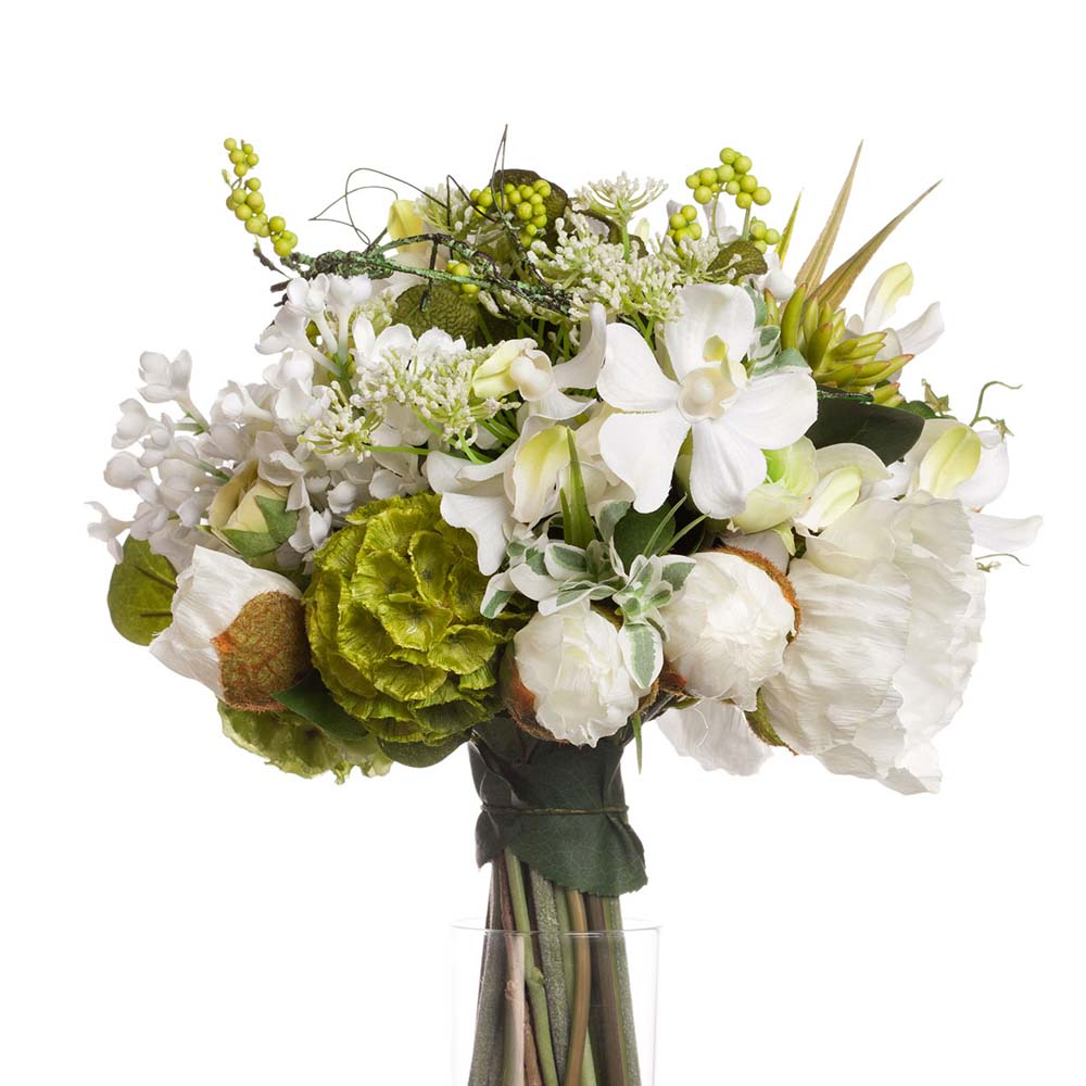 composition florale dans vase transparent vase illusion. Black Bedroom Furniture Sets. Home Design Ideas